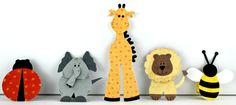 Finger Puppets, (try heat-bonding fabric onto card-stock or interfacing to make more durable)