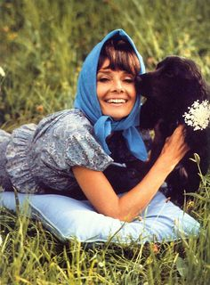 1971: Audrey looks radiant in the gardens of her beloved La Paisible, her home in Tolochenaz, Switzerland.