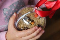 I Spy Nativity Ornament. I have to look for a mini nativity set!