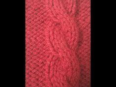 Brei 'n maklike kabel van regs na links Knitting Stitches, Youtube, Cable, Knitting Patterns, Youtubers, Loom Knitting Stitches, Youtube Movies, Knit Stitches, Loom Knitting