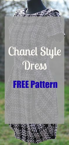 a6d513a35 Chanel Little Black Dress - FREE Sewing Pattern