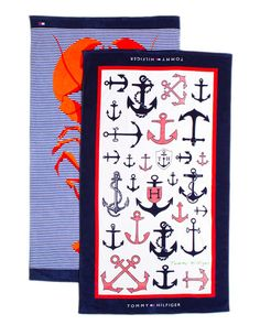 Tommy Hilfiger 'Anchor' Set of 2 Beach Towels... So cute for summer!