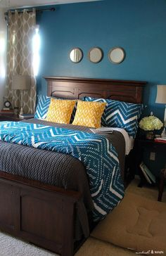 master bedroom makeover part 2 modish and main - Brown Bedroom Colors