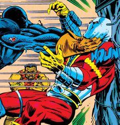 Deathstroke vs Deadshot - DST #41 Deathstroke Comics, Deadshot, Nyssa Al Ghul, League Of Assassins, Captain Boomerang, Martial Artist, Comic Page, Barbarian, Marvel Dc Comics