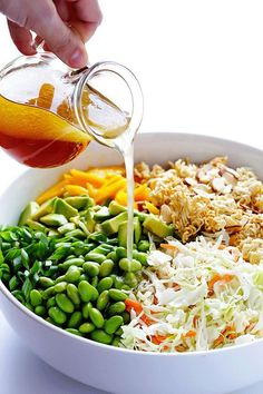 Crunchy Asian Ramen Noodle Salad by gimmesomeoven: Made with fresher ingredients and ready to go in 10 minutes! Crunchy Asian Ramen Noodle Salad by gimmesomeoven: Made with fresher ingredients and ready to go in 10 minutes! Healthy Recipes, Asian Recipes, Vegetarian Recipes, Cooking Recipes, Cod Recipes, Cooking Rice, Ramen Recipes, Cooking Games, Avocado Recipes