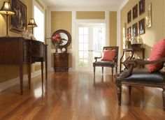 Bellawood Santos Mahogany is known the world over for exceptional strength, making it a great hardwood for high-traffic businesses and busy homes as well :)