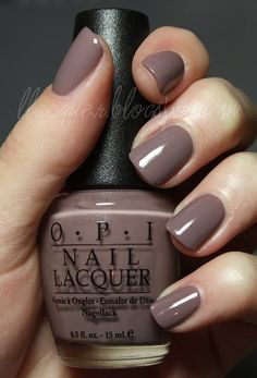 here are 11 Fall Nail Colors You Need Right Now. This list of nail colors is made for you to accentuate the beauty in this season. our styling would be incomplete without the nail color while nails accentuate the complete beauty. Opi Nails, Manicure And Pedicure, Pedicures, Nail Polishes, Shellac, Mani Pedi, Grey Gel Nails, Opi Nail Polish Colors, Brown Nail Polish