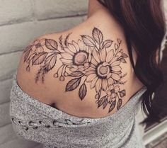 Freehand floral piece from today! Thanks for taking the cancellation spot Elly, … – floral tattoo sleeve Shoulder Sleeve Tattoos, Back Of Shoulder Tattoo, Shoulder Tattoos For Women, Sleeve Tattoos For Women, Back Tattoo Women Upper, Shoulder Tattoo Quotes, Half Sleeve Tattoos Color, Quarter Sleeve Tattoos, Sunflower Tattoo Shoulder