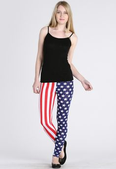 AMERICAN STARS & STRIPES LEGGINGS