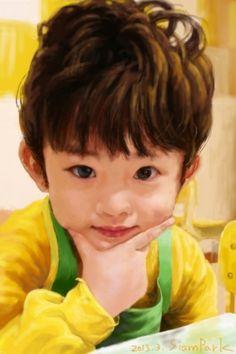 """little boy yellow"" ap: sketchbook mobile in iphone"
