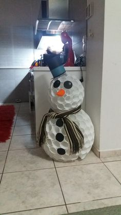 snowman with plastic cups small