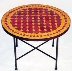 Table ronde en Zellige / Motif Tagra