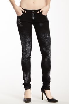 cannot wait to buy real clothes again!!!! Rose Distressed Skinny Jean