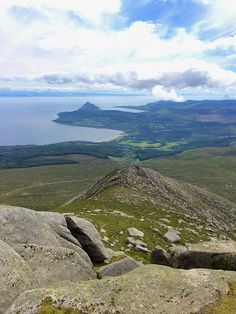 Arran from the top of Goat Fell-I have lived this moment Scotland People, Isle Of Arran, Scotland Castles, Scottish Islands, Going On Holiday, Places Of Interest, Live In The Now, British Isles, Dream Vacations