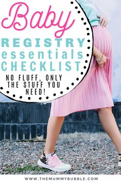The essential baby registry checklist for new moms. What you actually need to buy for your baby, with no fluff or useless gadgets you will never use! #babyregistry Baby Registry Essentials, Hospital Bag Essentials, Baby Registry Checklist, 1st Time Moms, Babies First Year, Pregnancy Must Haves, Pregnancy Tips, Baby Bug, Baby On A Budget