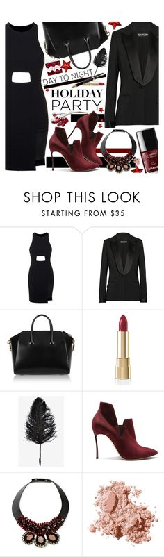"""""""Day to Night: Holiday Party"""" by pastelneon ❤ liked on Polyvore featuring Topshop, Tom Ford, Givenchy, Dolce&Gabbana, Fountain, Casadei, Marni and Bobbi Brown Cosmetics"""