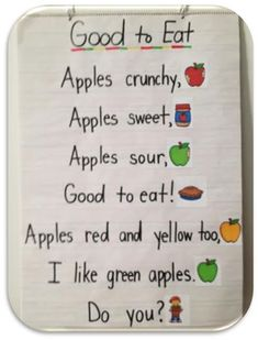 Apples and September go hand in hand! Check out this cute poem and TONS of other apple activities!