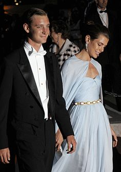 Princess Charlotte Casiraghi, arrives for a dinner at Opera terraces after the religious wedding ceremony of her uncle, Prince Albert, and Princess Charlene of Monaco on July 2, 2011, in Monaco.