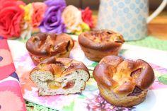 Zwetschge und Haselnuss, ein tolles Paar ... 6 Stück aus der (Silkon-)Muffinform…