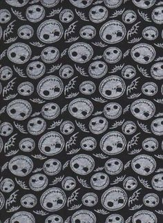 Jack Skellington Nightmare Before Christmas 100% Cotton Jersey Fabric Sold BTY B