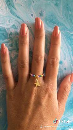 Diy Beaded Rings, Wire Jewelry Rings, Handmade Wire Jewelry, Diy Crafts Jewelry, Diy Rings, Seed Bead Jewelry, Bead Jewellery, Beaded Jewelry, Diy Bracelets Patterns