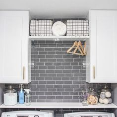 Give your laundry room a makeover in just one weekend by adding a Smart Tiles' backsplash wall tile available at The Home Depot! Smart Tiles Backsplash, Peel N Stick Backsplash, Herringbone Backsplash, Kitchen Backsplash, Backsplash Wallpaper, Rustic Backsplash, Travertine Backsplash, Beadboard Backsplash, Mirror Backsplash