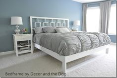 Bs blue wall tween make over reveal diy desk and shelves IKEA hack 2
