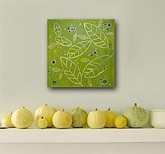 Abstract modern art in gorgeous greens...love this!! By @Linnea Heide  #original #art #abstract