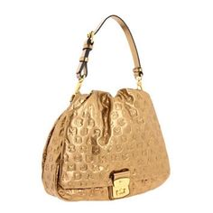 Marc By Marc Jacobs Gold Dream Lil G.g.RARE! This logo-embossed leather handbag features a push-lock closure and pleating at the front flap. Gathered elastic banding and magnetic closure at patch back pocket. Antiqued gold hardware. Detachable shoulder strap. Print-lined interior features zip pocket and 2 patch pockets. Brand new never used. Purchased at Nordstrom Rack for $389.97. Beautiful and gorgeous. Very rare and hard to find. SOLD OUT everywhere. Limited edition bag. One of a kind…