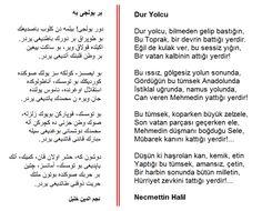 Osmanlı Türkçesi: Dur Yolcu [Necmettin Halil Onan] Ancient Alphabets, Galaxy Wallpaper, Poems, Language, Blog, Nirvana, Arabesque, Poetry, A Poem