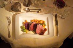 Á-la-carte Restaurant in 4 Sterne Hotel Berghotel Madlener in Damüls Food, Cards, Good Food, Easy Meals, Meal, Eten, Meals