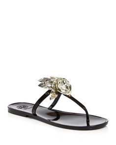 af559a093bbfef Tory Burch Blossom Jelly Thong Sandals Shoes - Bloomingdale s