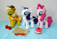 Felt My Little Pony Plush Sewing Patterns