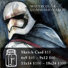 Help a stay at home dad and a mom  still on unpaid maternity leave by getting a commission! Just message me!  #watercolor #instaart #comicart #starwars #commissionart #art #illustration #captainPhasma #phasma #inking #coloring #l4l #likelike #like4like