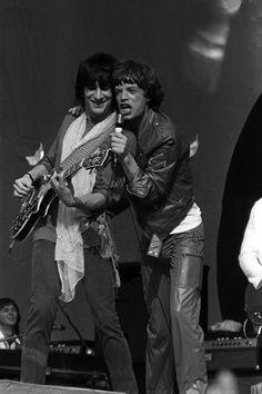 Ron Wood & Mick Jagger / Some Girls Tour / Rich Stadium / July 4, 1978