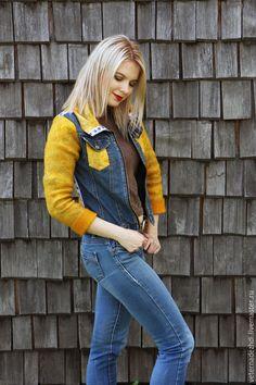 """Купить Валяная куртка """"Denim jacket"""" - валяная куртка, куртка валяная, джинсовая куртка"""