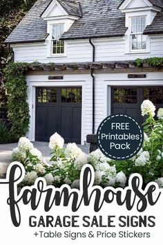 Signs can make or break your sale, but you don't have to spend a lot of money on them. Grab these printable Farmhouse-style garage sale signs, price stickers and table signs with shiplap backgrounds. They're free! Yard Sale Signs, Garage Sale Signs, For Sale Sign, Templates Printable Free, Free Printables, Farmhouse Signs, Farmhouse Style, Yard Sales, Price Sticker