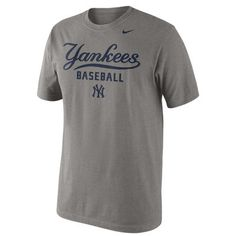 Men's New York Yankees Nike Gray Home Practice T-Shirt