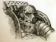 Maloghurst the twisted Chaos 40k, Sons Of Horus, The Horus Heresy, Space Wolves, Warhammer 40000, Space Marine, Character Concept, Fantasy Art, Sketches