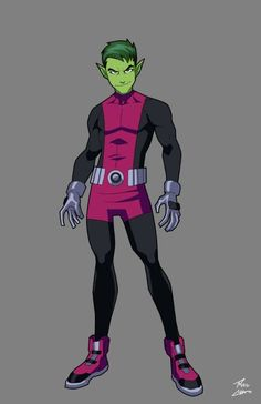 commissioned by Sam Stoke Beast Boy (c) of DC Comics Beast Boy Commission Teen Titans Cosplay, Teen Titans Go, Raven Beast Boy, New Titan, Hq Dc, Dc Characters, Young Justice, Cool Cartoons, Marvel Dc Comics