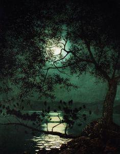 "catonhottinroof: "" Harry Wilson Watrous Fallen Pine at Hague, Lake George """
