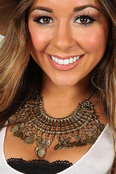 Living The Dream Necklace: Gold #shophopes
