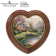 "Thomas Kinkade ""Home Sweet Home"" Heart-Shaped Framed Wall Decor by The Bradford Exchange $39.95 #bestseller"