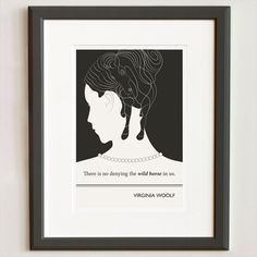 Original Illustration, Virginia Woolf quotation - Fine Art Prints - Art Posters - Literature inspired art - Dorm decor from ObviousState on Etsy. Literature Quotes, Author Quotes, Book Quotes, English Literature, Quotable Quotes, Virginia Woolf Quotes, Literary Gifts, Silhouette Art, Quote Posters