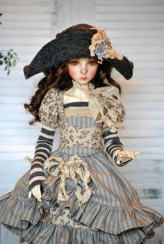OOAK Dress/outfit for Dollstown elf & similar 55cm bjd 8 piece Pink Hart bjd