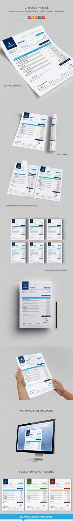 Invoice Excel Invoice design, Proposal templates and Print templates - microsoft word proposal templates