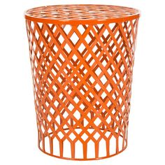 CONFIRMED PURCHASE (master bedroom) -  Showcasing a tapered silhouette and openwork iron design, this eye-catching stool doubles as a vibrant side table.   Product: Stool