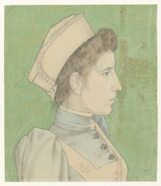 Portrait of Nurse Nelly, Jan Toorop, 1894, Rijksmuseum