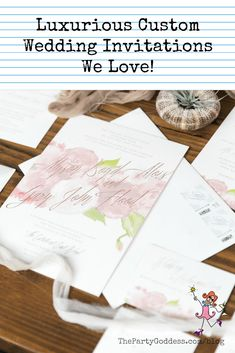 Beautiful custom designed invitations for a wedding, birthday, baby shower, anniversary party or any other special occasion from Ceci New York! Diy Wedding Favors, Handmade Wedding, Wedding Ideas, Traditional Wedding Invitations, Custom Wedding Invitations, Post Wedding, Wedding Bride, Secret Party, Event Signage