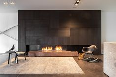 Contemporary Living Room Design Ideas To Get A Warm Room - Home Fireplace, Fireplace Design, Fireplace Showroom, Fireplace Feature Wall, Fireplace Ideas, Contemporary Cottage, Contemporary Interior, Contemporary Stairs, Contemporary Building